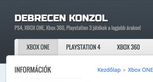 konzol webshop